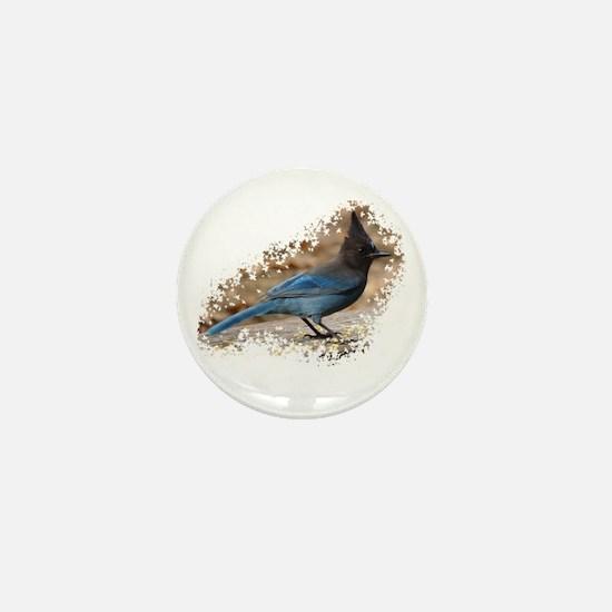 Steller's Jay Mini Button