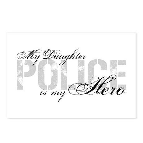 My Daughter Is My Hero Police Postcards Package By Poorrichards