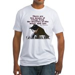 Cats and Music Fitted T-Shirt