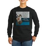 Cats and Music Long Sleeve Dark T-Shirt