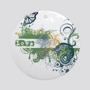 Green Love Chakra! Ornament (Round)