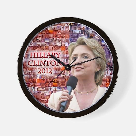 Hillary Clinton 2012 Wall Clock