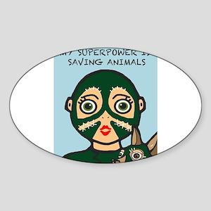 Saving Animals Sticker
