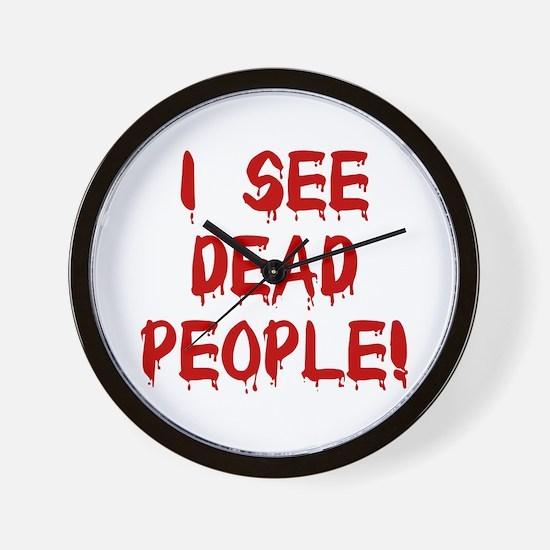 I See Dead People! Wall Clock