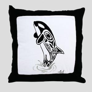 Orca Spirit Throw Pillow