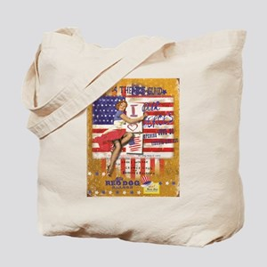 """Red Dog """"Love our Heroes"""" Tote Bag"""
