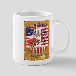 "Red Dog ""Love our Heroes"" Mug"