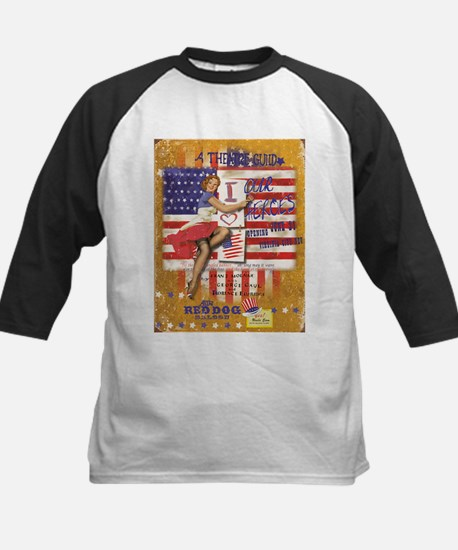 """Red Dog """"Love our Heroes"""" Kids Baseball Jersey"""