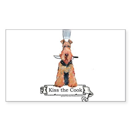 Airedale Terrier Chef Sticker (Rectangle)