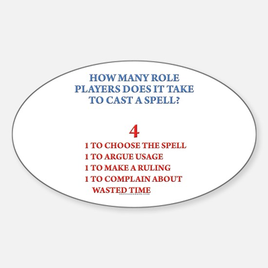How many players... Oval Decal