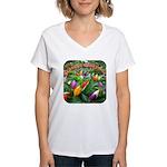 Pepper Christmas Lights Women's V-Neck T-Shirt