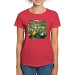 Pepper Christmas Lights Women's Dark T-Shirt