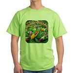 Pepper Christmas Lights Green T-Shirt