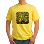 Pepper Christmas Lights Yellow T-Shirt