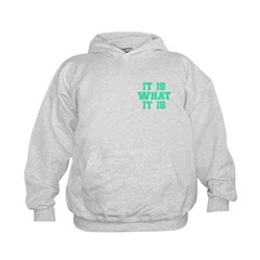 It Is What It Is Cyan and Gold Hoodie