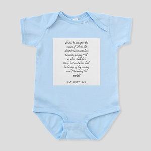 MATTHEW  24:3 Infant Creeper