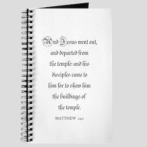 MATTHEW 24:1 Journal