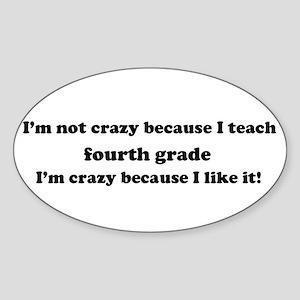 4th Grade Crazy Oval Sticker