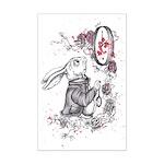 White Rabbit Mini Poster Print
