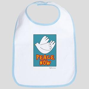 Peace Now Dove Bib