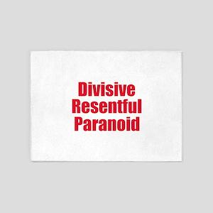Divisive Resentful Paranoid 5'x7'Area Rug