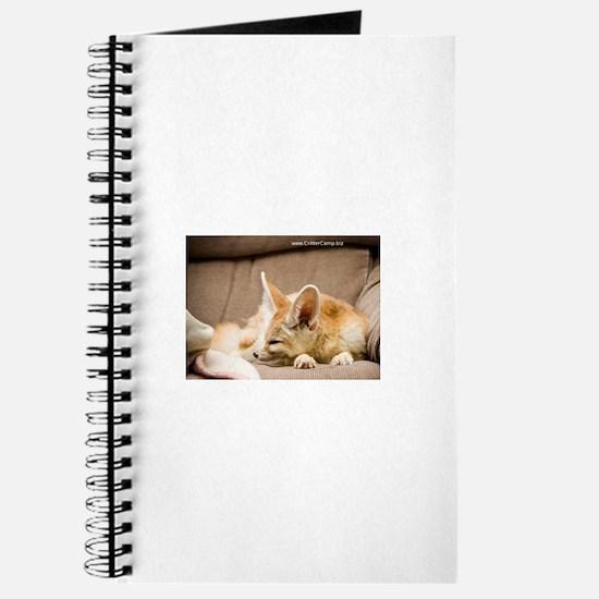 Flash the fennec fox snoozing Journal