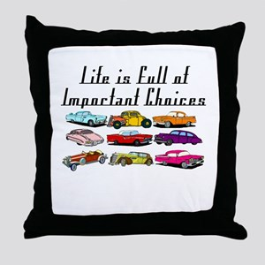 Important Choices Classic Throw Pillow