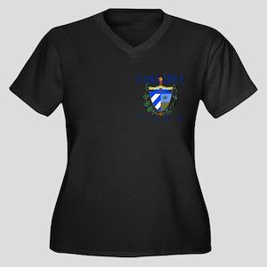 Camaguey Women's Plus Size V-Neck Dark T-Shirt