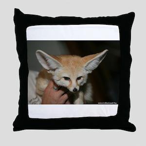 Flash the fennec fox Throw Pillow