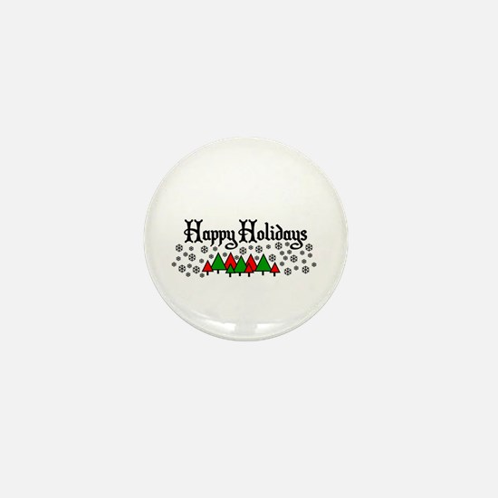 Happy Holidays Mini Button