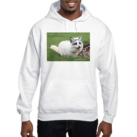 Shadow the Arctic Marble Fox Hooded Sweatshirt
