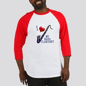 I Love My BASS CLARINET Baseball Jersey