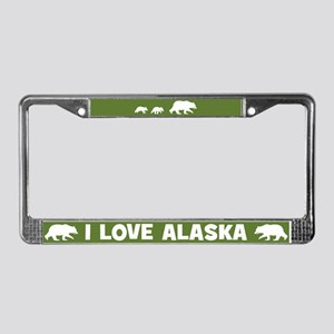 I Love Alaska License Plate Frame