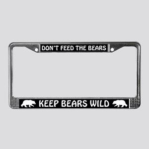 KEEP BEARS WILD License Plate Frame