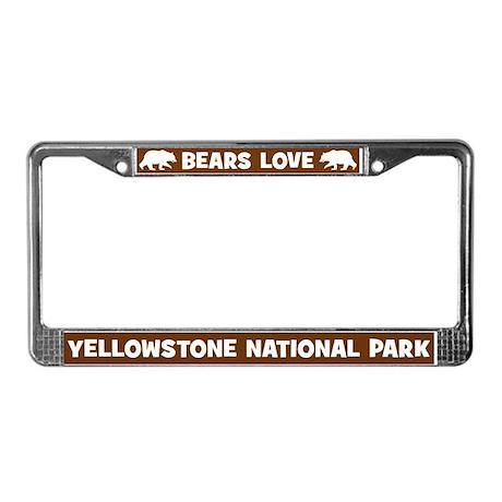 Bears Love Yellowstone License Plate Frame