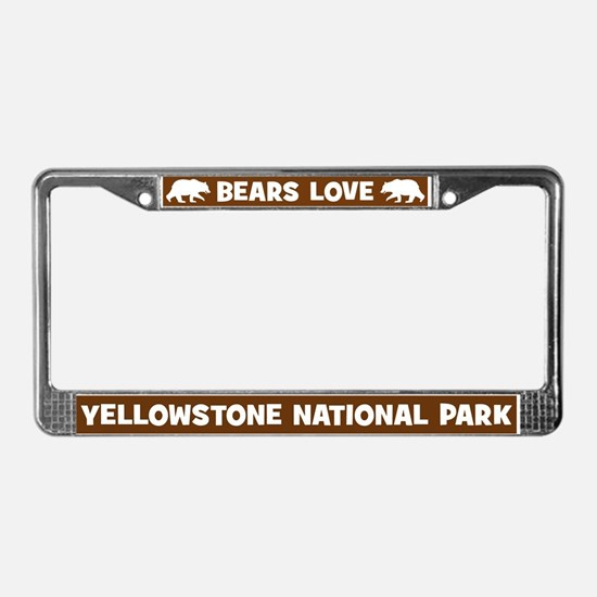 Bears Love Yellowstone License Plate Frame