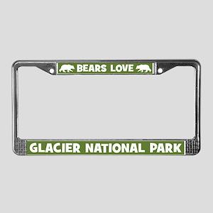 Bears Love Glacier National Park License Frame