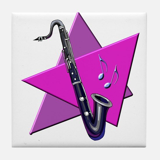 Bass Clarinet Tile Coaster