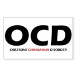 Obsessive Chihuahua Rectangle Sticker