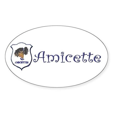 Amicette Curls Oval Sticker (10 pk)