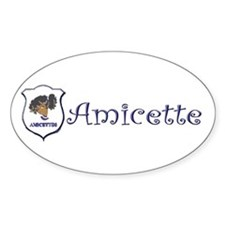 Amicette Curls Oval Sticker (10 pk)
