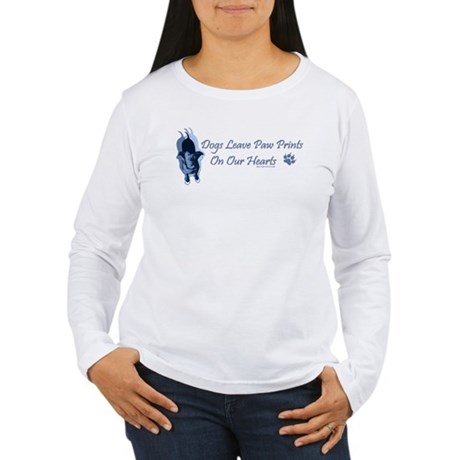 Paw Prints On Our Hearts Women's Long Sleeve T-Shi