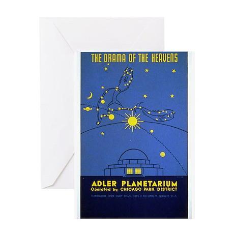 Adler Planetarium Chicago Vintage Greeting Card
