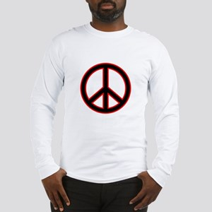 Red & Black Peace Long Sleeve T-Shirt