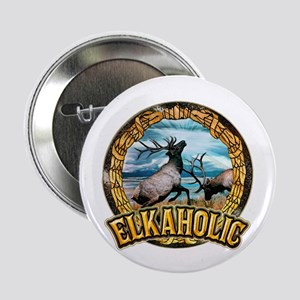 "elkaholic elk art 2.25"" Button"