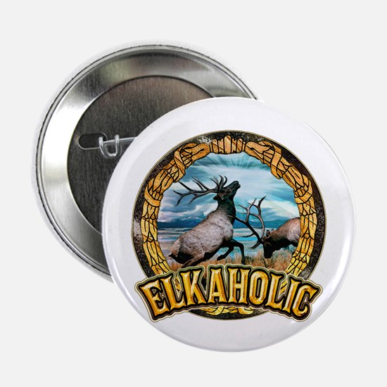 "elkaholic elk art 2.25"" Button"