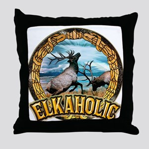 elkaholic elk art Throw Pillow