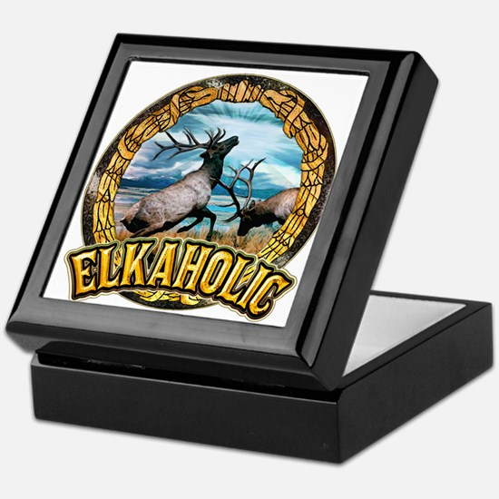 elkaholic elk art Keepsake Box