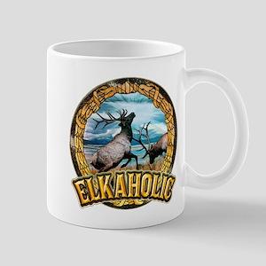 elkaholic elk art Mug