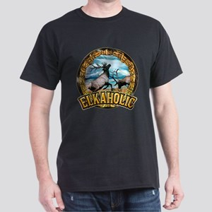 elkaholic elk art Dark T-Shirt